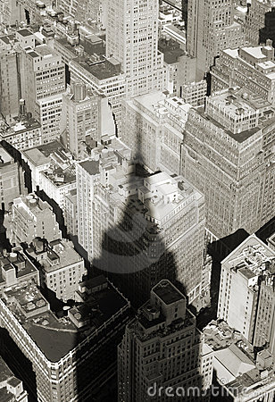 Shadow of empire state building