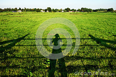 Shadow Of Farmer Inspecting Crop Free Public Domain Cc0 Image