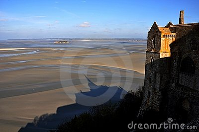 Shadow of Mt St Michael, Normandy, France