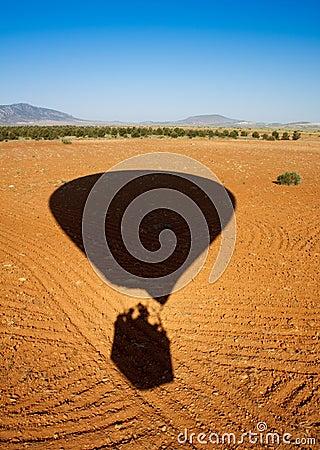 Free Shadow Of A Hot Air Balloon Landing Stock Photos - 14421793