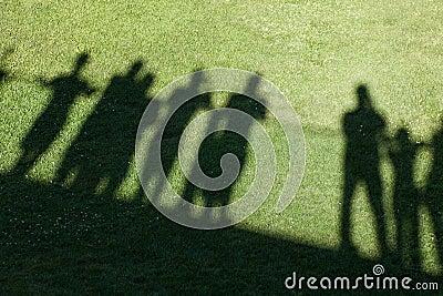 Shadow of people