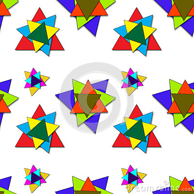 Shadowed triangles pattern