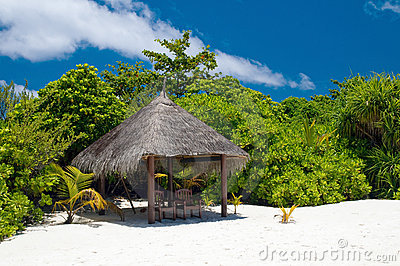 Shadowy Place at a tropical Beach