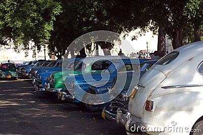Shady car park, Havana