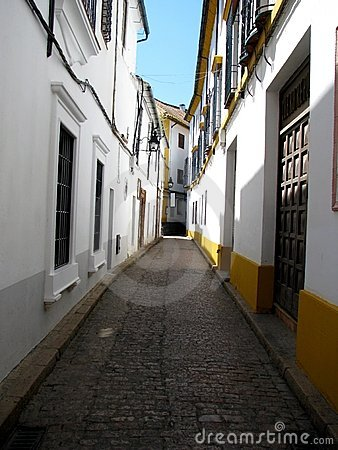 Shady narrow street