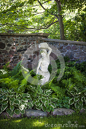 Shady perennial garden