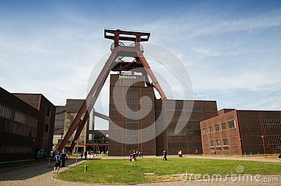 Shaft XII of Zollverein Coal Mine Editorial Photo