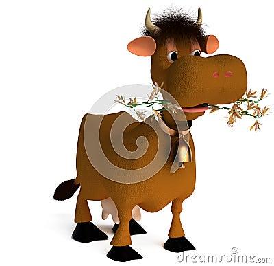Shaggy cow