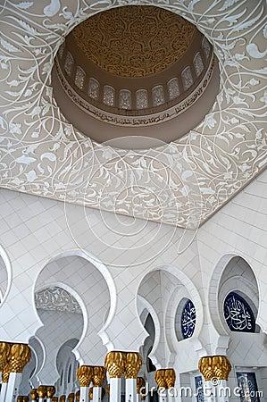 Free Shaikh Zayed S Mosque Interior Royalty Free Stock Photo - 23980135