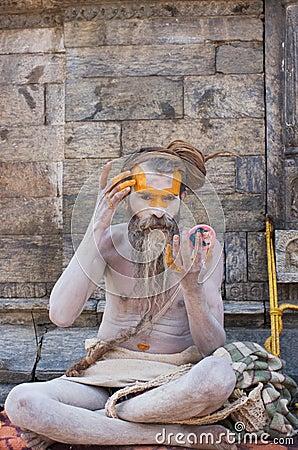 Shaiva sadhu (holy man) Editorial Image