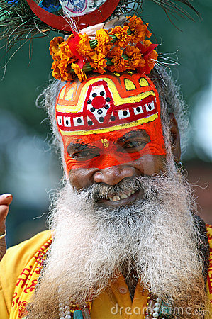 Shaiva sadhu portrait Editorial Stock Image