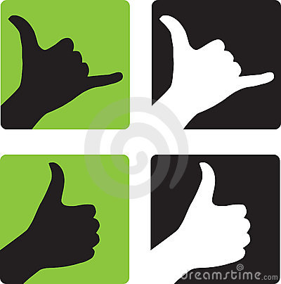 Shaka and Thumbs Up Hand Gestures