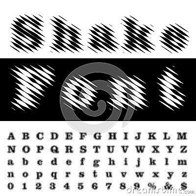 Free Shake Font Royalty Free Stock Images - 87717539
