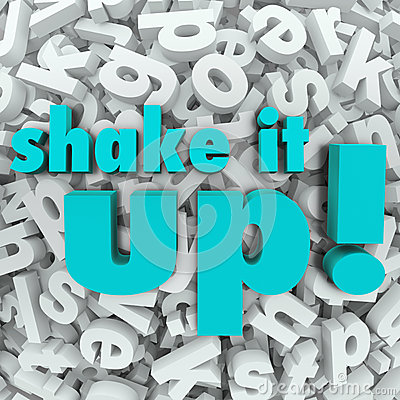 Shake it Up Words Letter Background Reorganization New Idea