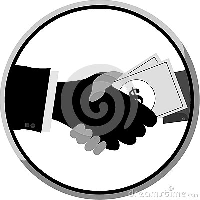 Shakehand and Give a Money to Other Hand