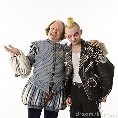 Free Shakespeare And Goth Man. Stock Images - 2678574