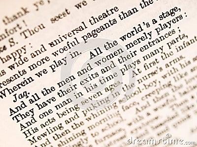 Shakespeare quotation