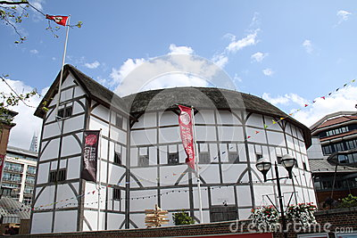 Shakespeare s globe in london Editorial Image