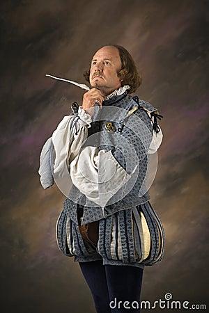 Shakespeare Thinking Royalty Free Stock Photography