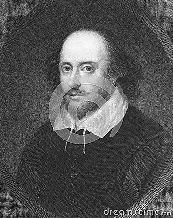 Shakespeare william Redaktionell Arkivfoto