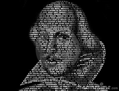 Shakespeare Word Art (Quotes) Editorial Stock Image