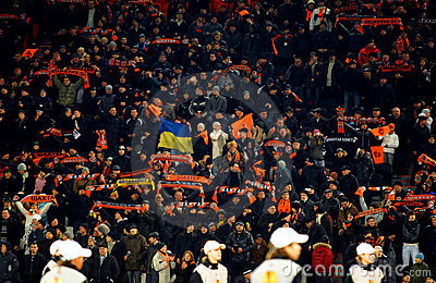 Shakhtar team supporters Editorial Photo