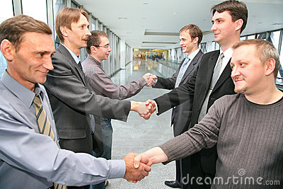 Shaking hands business partner