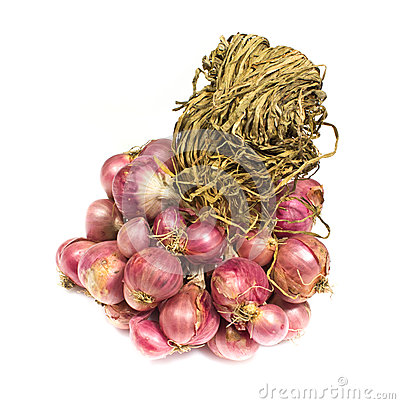 Shallot onions in a group