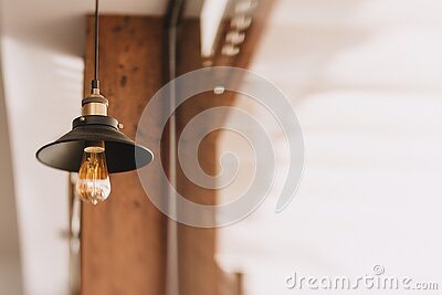 Shallow Focus Photography Of Black And Orange Pendant Lamp Free Public Domain Cc0 Image
