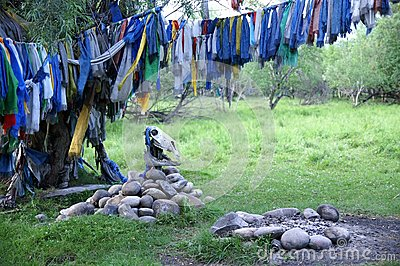 Shaman ceremonial place