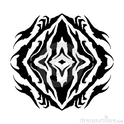 Shaman Eye Vector Glyph Symbol