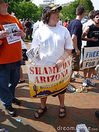 Shameful Arizona Law Editorial Photography