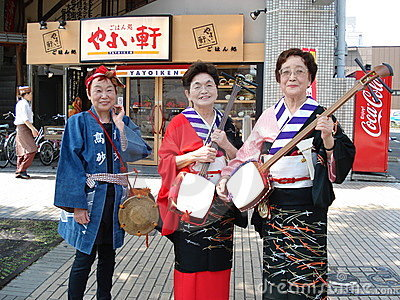 Shamisen Players Editorial Photography