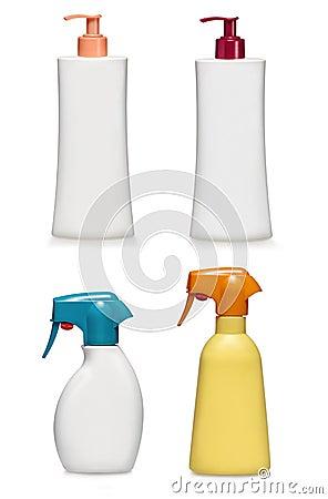 Shampoo and bath gel conatiners.Generic type
