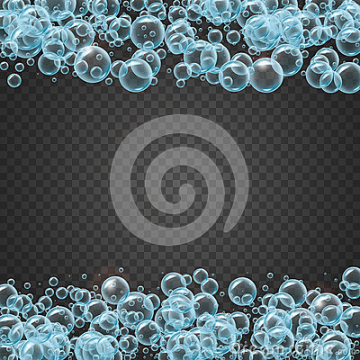 Free Shampoo Frame Of Realistic Water Bubbles Stock Image - 92452061