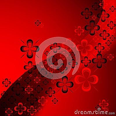 Shamrock abstract pattern