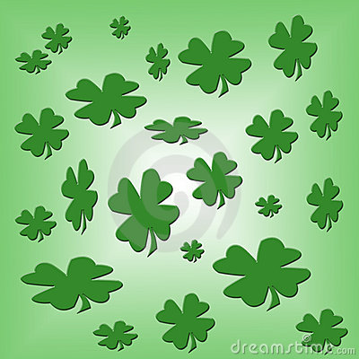 Shamrock Background Design Template