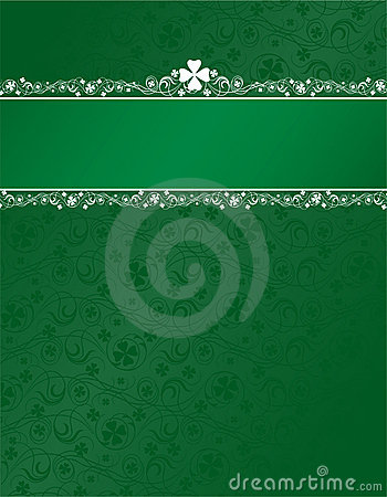 Free Shamrock Background With Header Stripe Stock Photos - 1959173