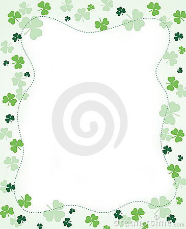 Free Shamrock Border Royalty Free Stock Photos - 8436278