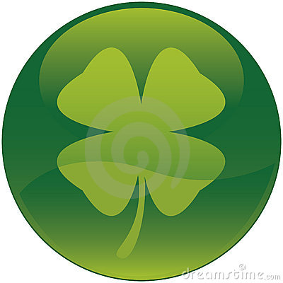 Shamrock icon ( Four leaf clover )