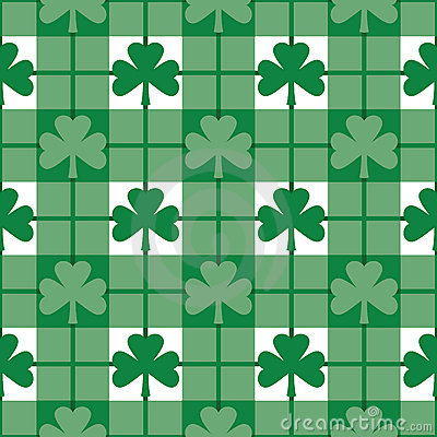 Free Shamrock Pattern Royalty Free Stock Image - 3871826