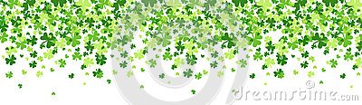 Shamrock Pattern Background Saint Patrick Day Beer Festival Banner Vector Illustration