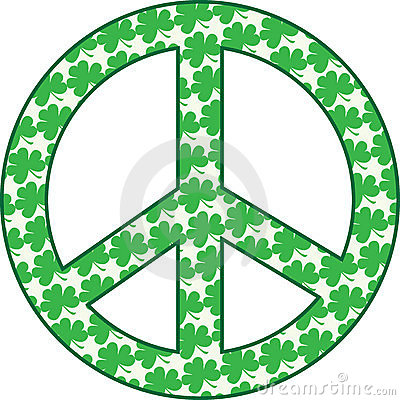 Shamrock Peace Sign
