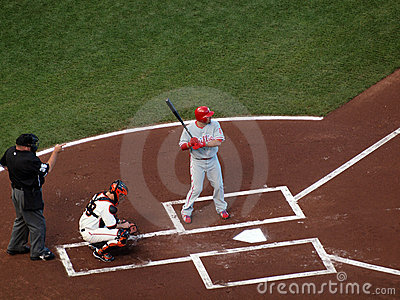 Shane Victorino waits on incoming pitch Editorial Stock Photo