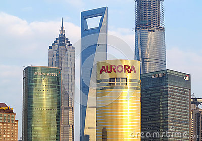 Shanghai Building Editorial Stock Image