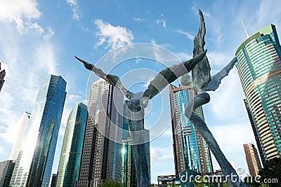 Shanghai Buildings Editorial Image