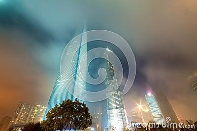 Shanghai Buildings at Night