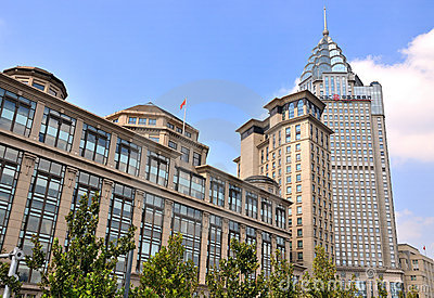Shanghai Bund buildings as landmark Editorial Image