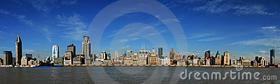 Shanghai The Bund - Panorama Royalty Free Stock Images - Image: 18932409