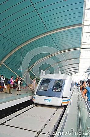 Shanghai China maglev train Editorial Photo